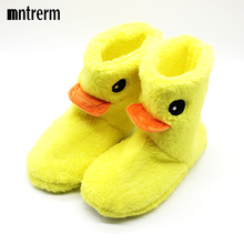 The New Big Yellow Duck Cute Cotton slippers Women Winter Warm Home Cotton-padded Shoes Winter Soft bottom Indoor Plush Slippers