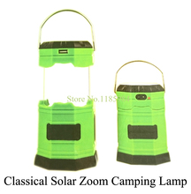 2015 Newest Design Classical Portable Solar Zoom Camping Lamps Multifunctional Outdoor Energy Saving 6 LEDs Lamps High Power 10B(China (Mainland))