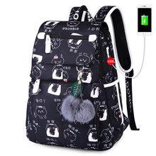 חדש תרמילי בית ספר נשים תרמיל לנערות נשי המוצ 'ילה Feminina Mujer מחשב נייד Bagpack נסיעות תיק Sac Dos 2019(China)