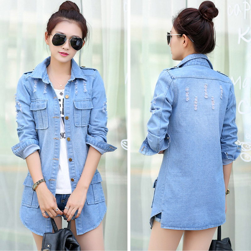 Denim Jeans Jackets Ladies | Outdoor Jacket