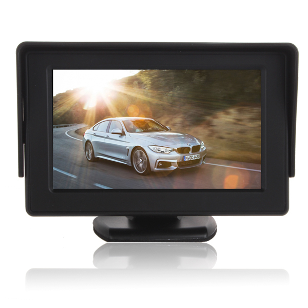 High quality Color TFT LCD Car Rearview Monitor 4.3 inch 16:9 screen HD display DC 12V car Monitor for DVD backup parking Camera(China (Mainland))