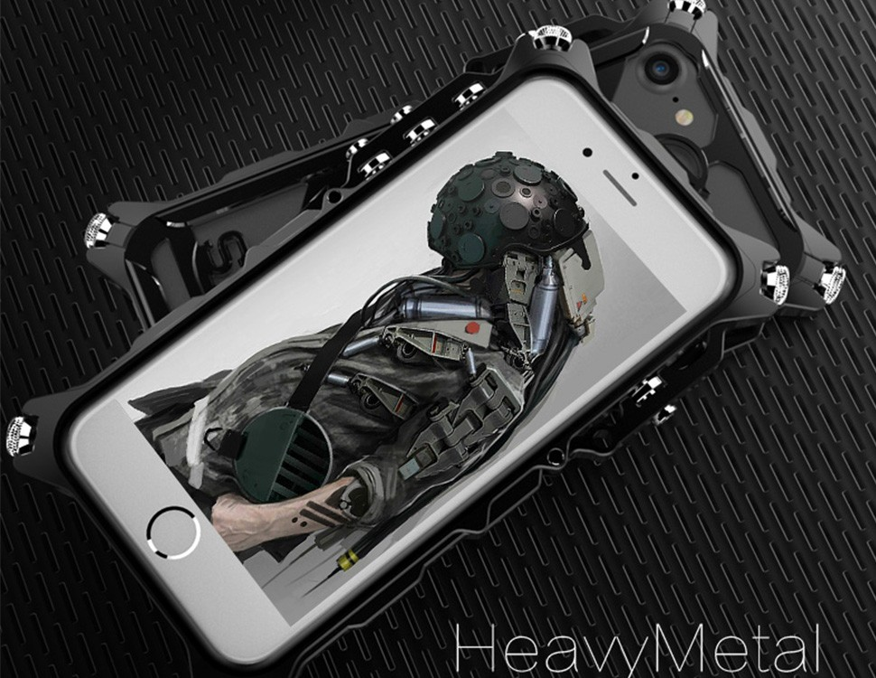 Armored heavy metal shock drop resistance protective shell phone cover for iphone 5 5s SE 6 6S 6splus 6plus 7 7plus plus case