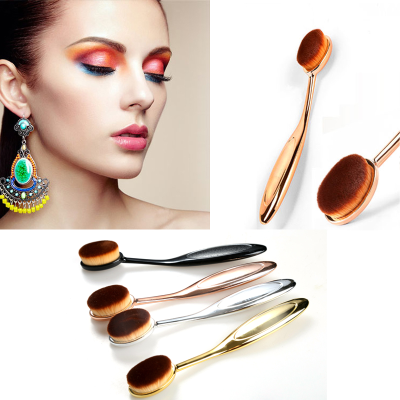 High Quality 1pc Professional Makeup Brushes Beauty Cosmetics Toothbrush Oval Brush Foundation Face Blush Powder Makeup Brush(China (Mainland))