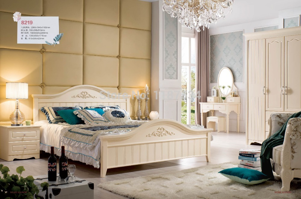 8219 Wholesale price furniture manufacturer factory price double bed king size luxurious grand bed wooden bed bedroom furniture(China (Mainland))