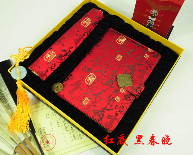 Spring unique notebook brocade mouse pad gift twinset birthday