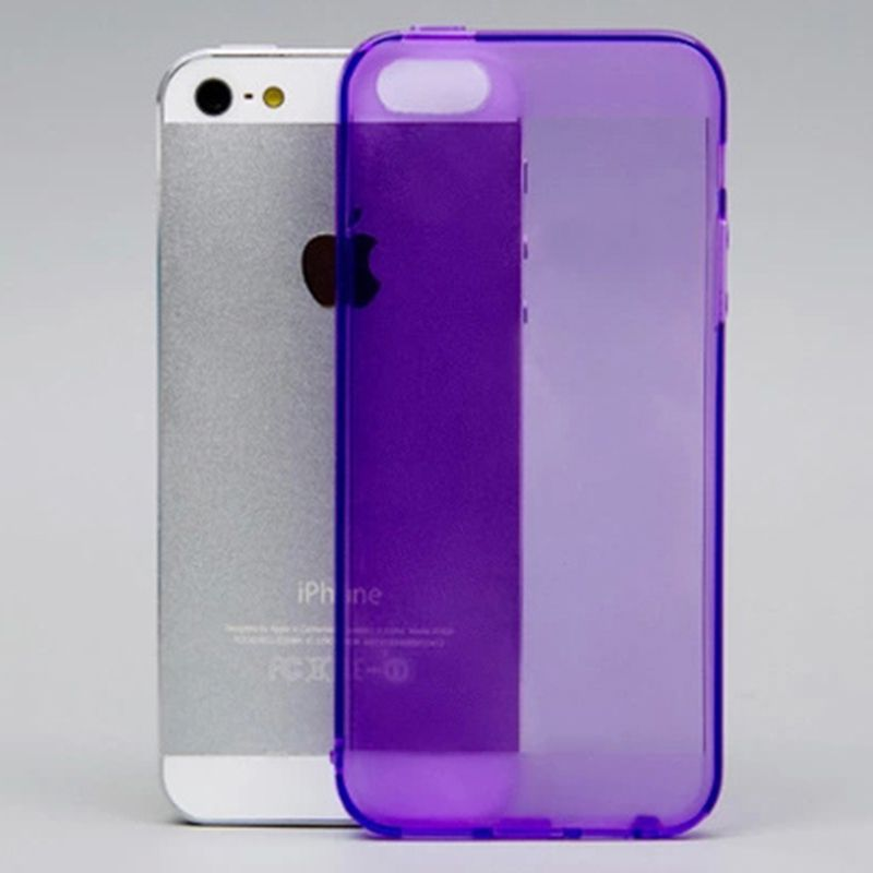 Case for Apple iPhone 5 5S Soft TPU Silicon Colorful Transparent Skin Cover Protector for iPhone5s #5(China (Mainland))