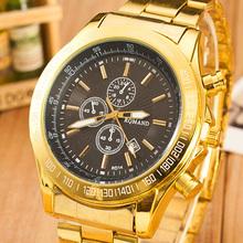 2015 gold quartz watches men luxury brand wristwatch golden clock hodinky male relogio masculino reloj hombre relog montre homme