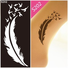 Flower Temporary Tattoo Stencil Template Mehndi Henna Art Airbrush Painting Disposable Mehndi Stencils Templates Glitter