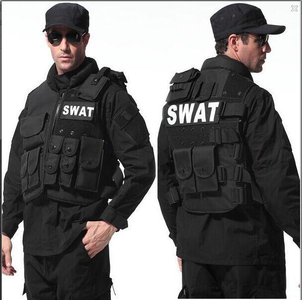 Genuine Man's tactical vest ,bulletproof vest Molle Tactical Black vest cs vest swat protective equipment(China (Mainland))
