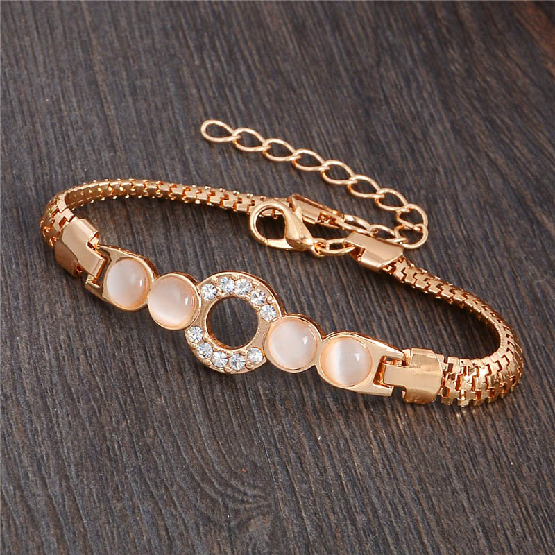 Wonderful design jewelry 13 Style 18k Gold Filled charming Opal Austrian crystal Bracelet for Women gifts wholesale(China (Mainland))