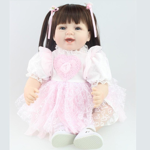 Pre-sale 22Inches 55CM Lifelike Vinyl Baby Reborn Doll Toy Brand Gift For Kids Girls Soft Cloth Body Babies Princess Dolls Toys(China (Mainland))