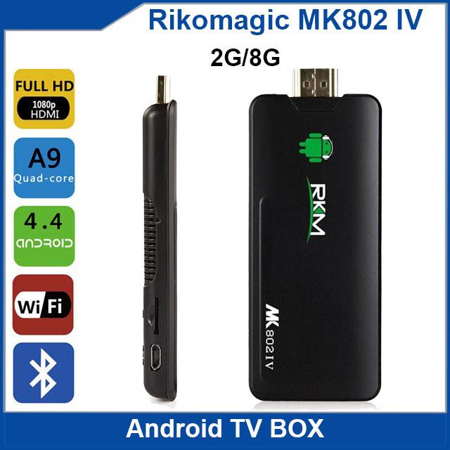 Rikomagic MK802 IV Android TV Box Mini PC Android 4.2 JB RK3188 Quad Core ARM Cortex-A9 1.8GHz 2G/8G WiFi HDMI TV Receiver(China (Mainland))