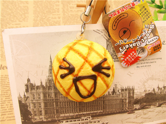 1 pcs 2015 new squishy Pineapple buns cell phone charm Keychain Squishies buns(China (Mainland))