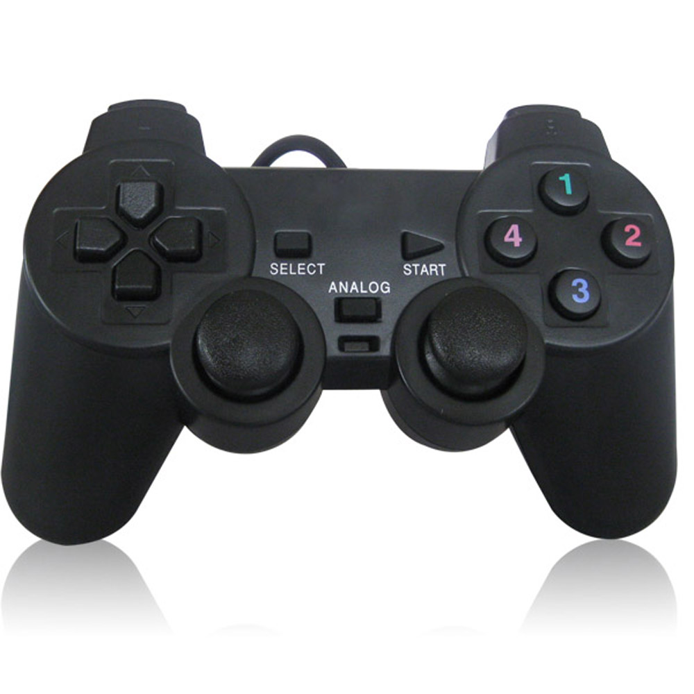 USB Wired PC Game Controller Gamepad Shock Vibration Joystick Game Pad Joypad Control for PC Computer Laptop Gaming Play(China (Mainland))