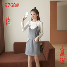 Buy 2017 New Vintage Women dress Knitting Spaghetti Strap V-Neck Straps Sweater Two Suits Dresses Gray Black Pale Pinkish Grey 9768 for $21.70 in AliExpress store