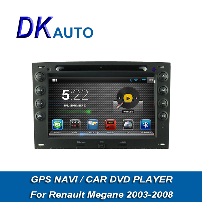 Car DVD For Renault Megane 2003-2008 Pure Android Dual Core 1G 2 Din 7 Inch Car Audio Player With GPS Wifi RDS SWC Radio Music(China (Mainland))