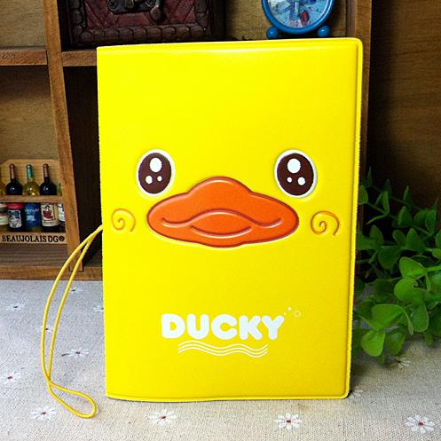 Wholesale (50pcs) cool cartoon passport holders,  travel passport cover, PVC&amp;PU leather  3D design-Yellow Duck<br><br>Aliexpress
