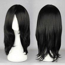 "Natural 17"" Black Wig For Anime Naruto Cosplay Figure Hyuga Neji Orochimaru synthetic Costume Wig(China (Mainland))"