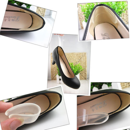 Silicone Back Heel Liner Gel Cushion Pads Insole High Dance Shoes Grip New 2015 lqq(China (Mainland))