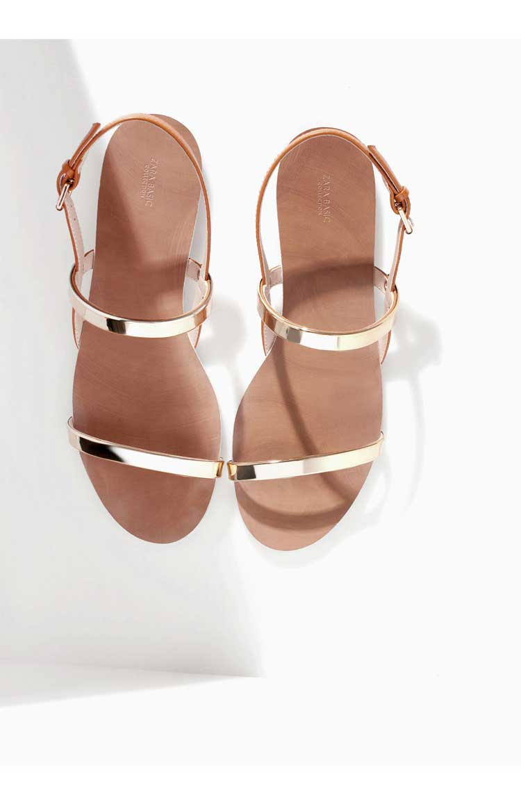 2015 The new fashion metal thin flat with female sandals flat with Rome More belt for women's shoes(China (Mainland))