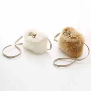 5pcs/lot hot sale girls spring autumn fashion fur bags kids Messenger Bags white brown 421(China (Mainland))