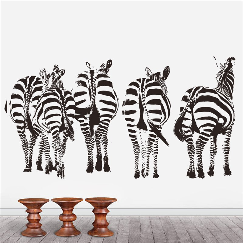 Zebra horse wall stickers living bedroom decoration 8389 diy vinyl