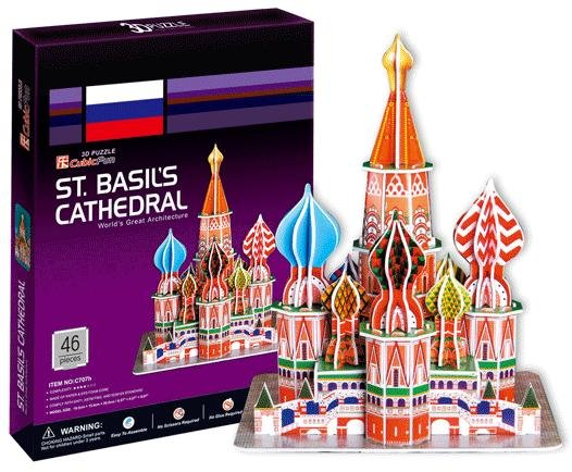 Paper model,Children's DIY toy,Paper craft,Birthday gift,3D educational Puzzle Model,Card model,ST.Basil's Cathedral(China (Mainland))