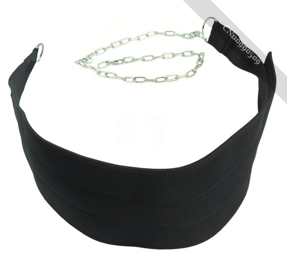 New Black Dipping Belts Weight Lifting Gym Dip Belt Mesh With Metal on sale
