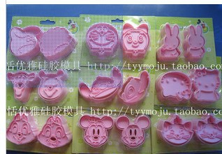 Wholesale,free shipping,12 packs( 9 sets/pack) /lot plastic cookie cutter mold/stereo biscuit molds 9 sets mixing orser
