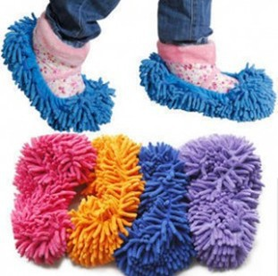 Wholesale daily household chenille microfiber lazy wipe slippers shoes(China (Mainland))
