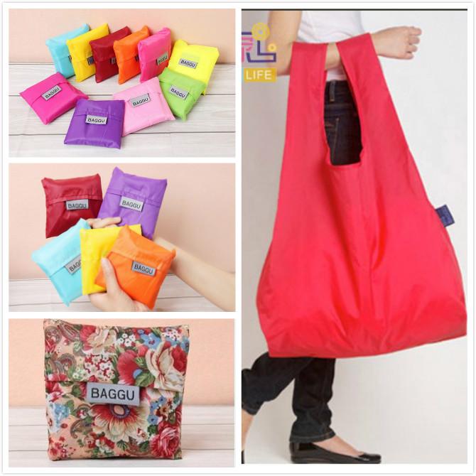 Hot Sale!!! 2 Piece Eco-friendly Storage Grocery Bags Handbag Foldable Shopping Tote Reusable Shopping Bag Travel Bag(China (Mainland))