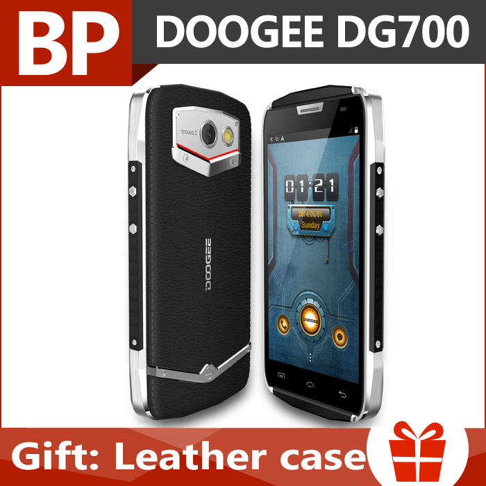 In Stock Original Doogee Titans 2 DG700 4.5 Inch IPS Android 5.0 Mtk6582 Quad Core waterproof 3G Mobile Cell Phone 8MP 1GB 8GB(China (Mainland))