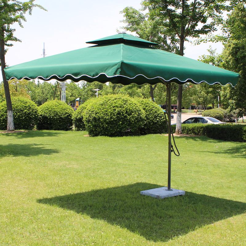 Anti- big umbrella wrench double tripod patio booth sun umbrellas outdoors<br><br>Aliexpress