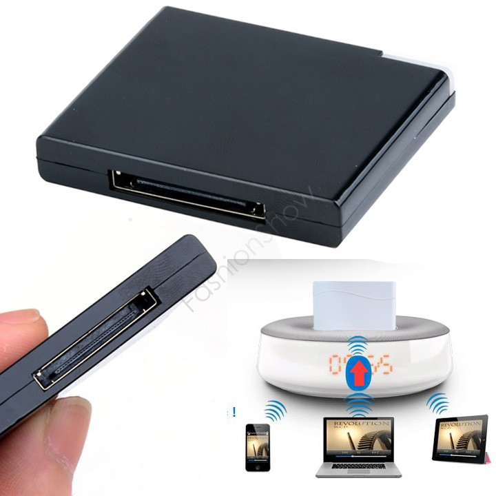 New Arrival Bluetooth A2dp Music Receiver Audio Adapter For Ipad Ipod Iphone 30pin Dock Bose Speaker 24(China (Mainland))