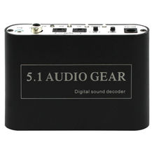 5.1 Audio Decoder Converter Digital to Analog Decoder Spdif Coaxial USB to RCA Support DTS/AC3/Dolby for HD Players/DVD/XBOX360(China (Mainland))