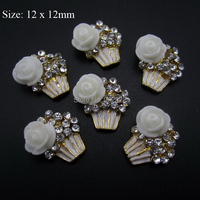 10pcs Cupcake nail art jewelry 3d nail charms DIY arts and crafts new nail decorations AM39
