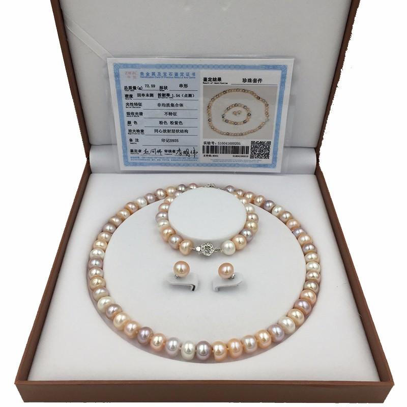Sinya natural freshwater pearls jewlery set  (14)