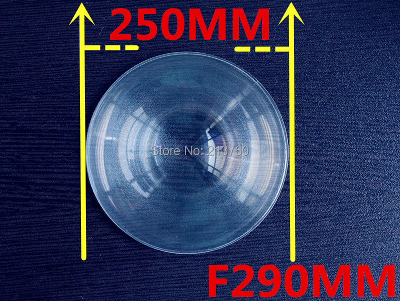 Large size a magnifying glass Fresnel Lens ,Focal length 290mm,Diameter 250mm ,Focusing on amplification stage lighting(China (Mainland))