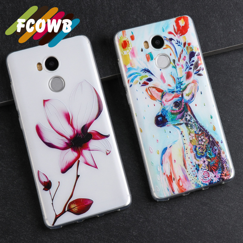 Silicone Case Xiaomi Redmi 4 Pro Mobile Phone bag 5.0 Inch High 3D Relief Painting Protector Back Cover Case