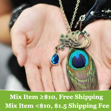 Fashion vintage personality peacock necklace Wholesale !