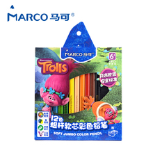 Buy Marco 12 Colors Oily Colored Pencils School Pencil Student Children Painting Pencils Trolls Triangle Carton Drawing For Children for $9.25 in AliExpress store