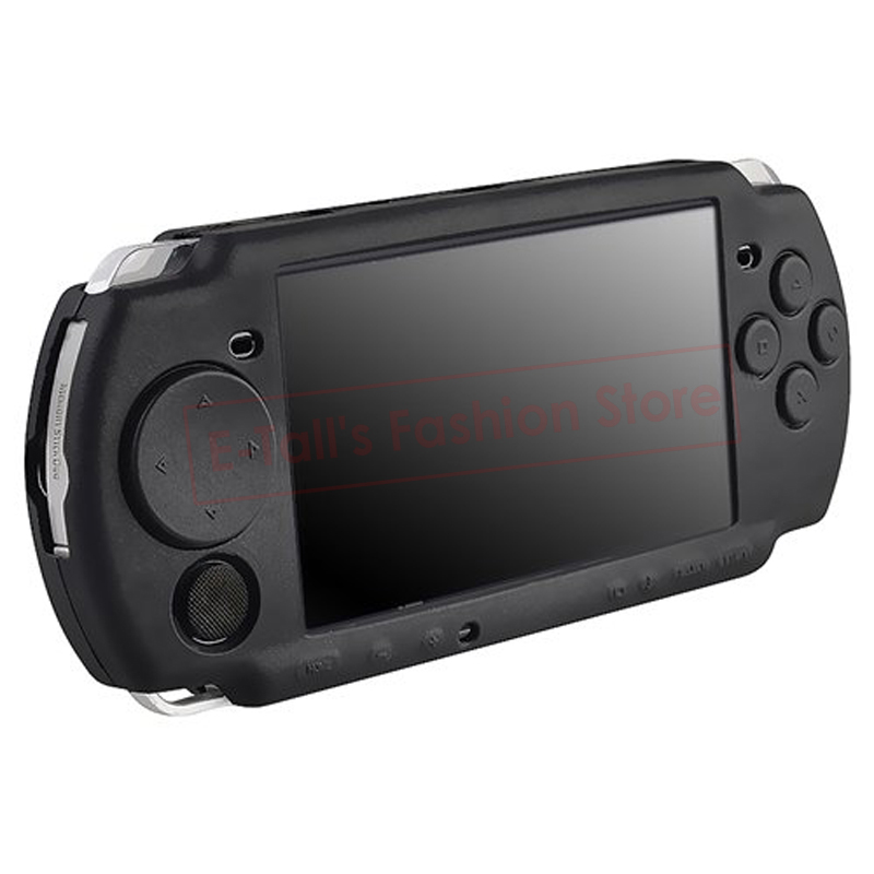 Black Soft Silicone Rubber Skin Case Cover for PSP 2000 3000 Game Controllers Soft Gel Protective