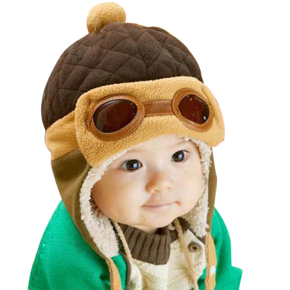 cool baby boy hat winter toddlers infant pilot cap