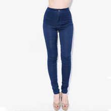 2015 women pantalones American Apparel AA capris vintage high waist trousers wash easy jeans pencil skinny sport pants plus size(China (Mainland))