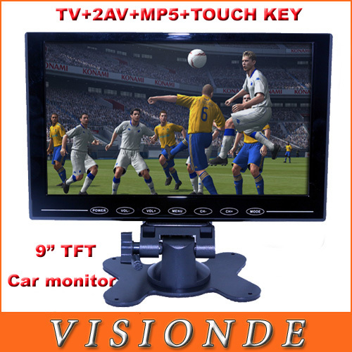 "2014 New Style 9 Inch TFT LCD Panel Portable TV Mini Televisions 9"" Ultra-Thin Touch Button TV Monitor With MP5 Support SD USB(China (Mainland))"