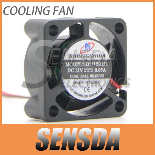 Hot Sale DC Brushless Cooling 5 Blade Fan 2510 DC 12V 25mmx25mmx10mm fan High Quality Micro mini fan server inverter video fan(China (Mainland))