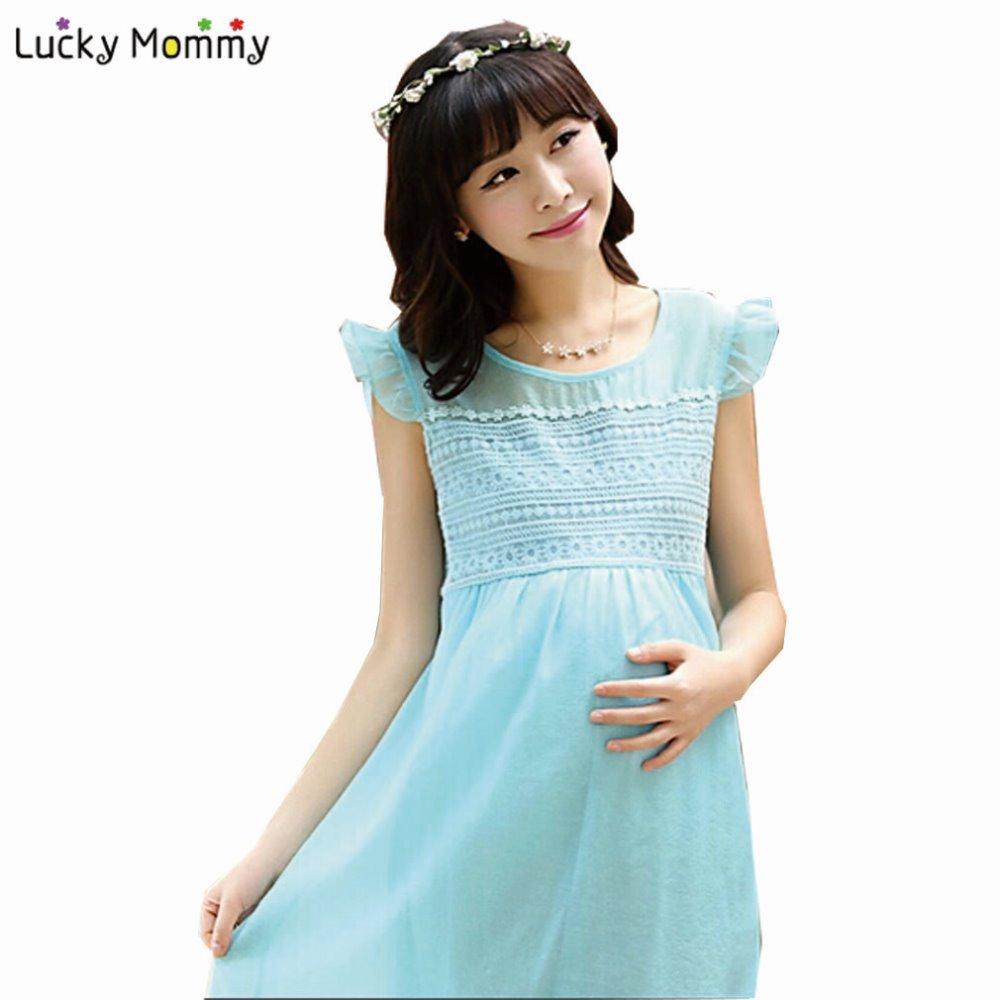 Buy Maternity Dress Summer New Elegant Chiffon Dresses ...