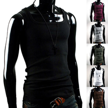 Hot Cool Men's Summer Solid Cotton Shawl Collar Slim Muscle Vest Fit Sexy Stylish Fashion Sleeveless Broadcloth Tank Tops Shirt
