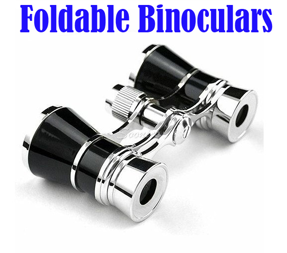 2015 3 x 25 Beatiful Classic Foldable Binoculars Telescopes Glasses For Theater Opera Free Shipping & Drop Shipping(China (Mainland))