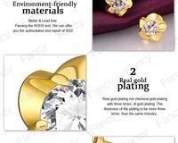 Серьги из золота 18k ювелирные изделия Серьги 18k последнюю дизайн серьги для очарование женщины wxtb lgpe1009-а